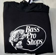 NEW! Black-White [S] BASS PRO SHOPS Adult Soft Fleece Style Hoodie Small