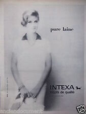 PUBLICITÉ 1959 INTEXA PUR LAINE TRICOTS DE QUALITÉ - ADVERTISING