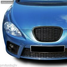 SEAT Leon 1P Altea 5P 04-09 BLACK SPORT FRONT GRILL GRILLE BADGELESS DEBADGED RS