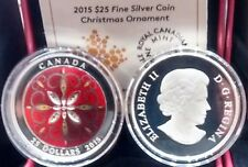 Christmas Ornament Coin $25 1OZ Pure Silver 2015 Ultra-High Relief, Mintage 6000