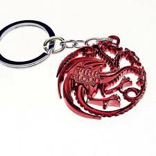 New Game of thrones House Targaryen Keychain Red Metal Key Ring Chain