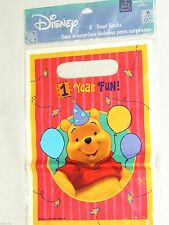 NEW~ WINNIE THE POOH ~1 st.  BIRTHDAY LOOT BAGS PARTY SUPPLIES