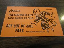 Get Out of Jail Free - Monopoly Chance Game Card