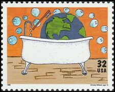US 2951 Kids Care Earth Day Earth Clean-up 32c single MNH 1995