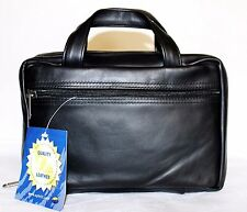 UPHILL Black Top Grain Leather Scripture Bible Book Case Bag 9.5x2.5x6 NEW L@@K!