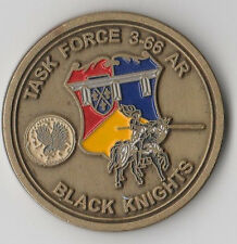 """3-66  Armor Black Knights   Challenge Coin 1.5 """"DIA"""