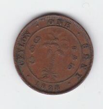1928 Ceylon One Cent Coin  King George B-506