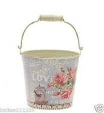 New wedding table centrepiece decoration small vintage floral bucket pail vase
