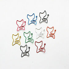 10Pcs Colorful Office Supplies Stationary Wrapped Cat Paper Clips Random Color