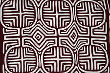 Kuna Geometric Abstract Art Mola Hand Stitched Applique Maracas Motif Maze 2B
