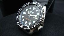 Vintage Seiko divers watch 7S26 Auto DD Mod BLACK DIAL BLACK BEZEL INSERT J99.
