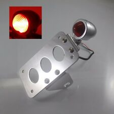 Chrome Vertical Bullet SIDE MOUNT LICENSE PLATE STOP TAIL LIGHT FOR HARLEY XL FL