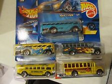 Hot Wheels Lot of (5) Surfin & School Bus types! All Different Lot #4