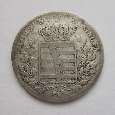 1837  -  6  KREUZER  SAXE-MEININGEN  GERMANY  SILVER  COIN  -  KIND  OF RARE!!