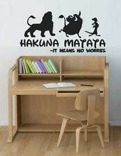 HAKUNA MATATA Lion King Quote - Simba Timon Pumbaa Wall Art Decal Sticker
