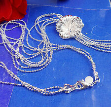 fashion 1PCS S80 Silver CZ fashion trumpet flower necklace  BJ130