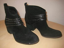 Jessica Simpson Shoes 6.5 M Womens New Clauds Black Leather Ankle Boots NWOB