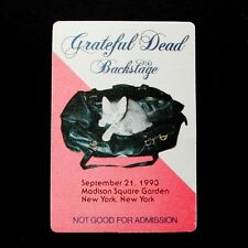 Grateful Dead Backstage Pass Kitten Cat in Bag MSG New York City NY 9/21/1993