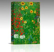 GUSTAV KLIMT A3 GARDEN & SUNFLOWERS CANVAS WALL ART PICTURE FLOWERS