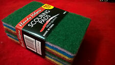 "HANDY HELPERS Packsof10 Scouring Pads 6""x4""FOR TOUCH CLEANING JOBS"