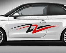 Corpo Auto Adesivi Personalizzati VINILE RACING GRAPHIC SIDE STRIPE Decalcomania - 2 COLORI