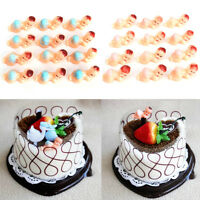 12/24/48pcs Plastic Baby Shower Party Favors My Water Broke Game Cake Decor