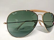 VINTAGE RAY-BANS 62 14 GOLD OUTDOORSMAN AVIATOR SUNGLASSES w/CASE