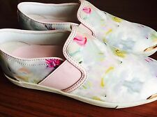 BNWT Ted Baker Trainers Size UK 5 Floral White Pink  No Box Ladies Shoes