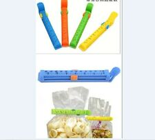 4pcs Big Food Bag Clips With Fresh Date Storage Sealing AB