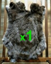 1 x BROWN Rabbit Skin Fur Pelt Tanned for; dummy, animal training, crafts, LARP