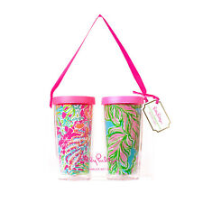 NEW - Lilly Pulitzer - Tumbler Set of 2 - Spot Ya and In the Bungalows