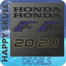 Honda 20 hp Four Stroke outboard engine decal sticker set reproduction