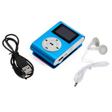 USB Clip MP3 Player LCD Screen Support 32GB Micro SD TF Card Blue MP3 Lecteur