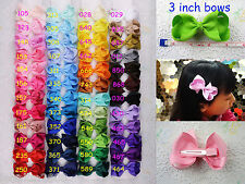 Explosion models 48pcs baby girl grosgrain knot hair bows alligator clips 1397 Y