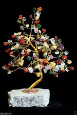 MULTI  STONE GEM TREE, CRYSTAL, HEALING, FENG SHUI NEW AGE GEMSTONE HOME DECOR