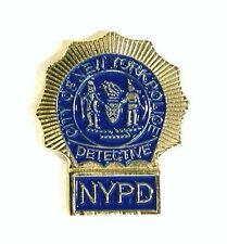 NEW YORK POLICE DETECTIVE PIN BADGE NEW