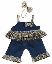 Teddy Bear vestiti adatti Build a Bear Teddies Denim Leopard & Bow Set Vestiti
