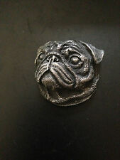 Pug Head Dog pewter effect animal 3D magnet ideal for fridge,filing cabinets etc
