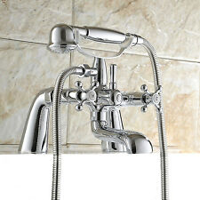 Traditional Victorian Chrome Bath Shower Mixer Tap Classic Bathroom Taps UK