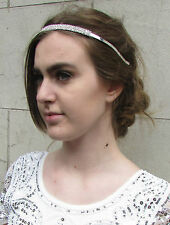 Silver Diamante Headband Alice Band Prom Bridal Bridesmaid Rhinestone Metal 5AA