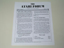 THE ATARI FORUM developer newsletter - Vol. 1 No. 1 March 1988 - 520ST/1040ST