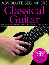 Absolute Beginners Classical Guitar Learn to Play Lesson Music Book & CD