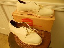 Vintage NOS Knapp White Panda Suede Bucks Men's Shoes Hipster Cronner RockaBilly