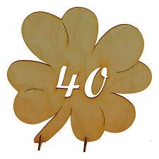Geschenk zum Geburtstag Hochzeit Jubiläumszahl 40 Kleeblatt aus Holz 11cm Deko