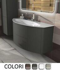 Mobile Bagno Eden 120  arredo moderno sospeso lavabo cristallo grigio natura| da