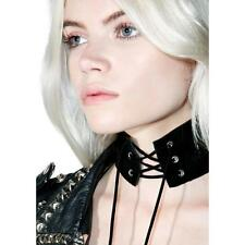 Vintage Women Lace Up  Velvet Leather Choker Necklace Gothic Punk Sexy Jewelry