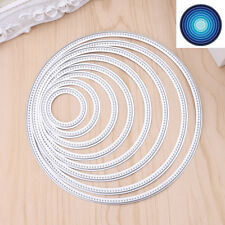 Circle Round Metal Cutting Dies Stencils DIY Scrapbooking Embossing Decor Craft