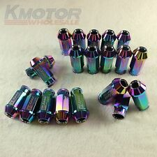 NEO CHROME 20PCS M12X1.5 D1-SPEC RACING WHEEL LUG NUTS FOR HONDA CIVIC ACURA
