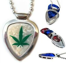 Musicians' Favorite GUITAR PICK HOLDER Pickbay NECKLACE +  Cannabis Pot Pick Set