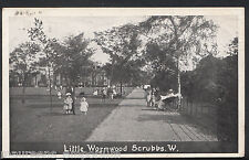 London Postcard - Little Wormwood Scrubs   D438